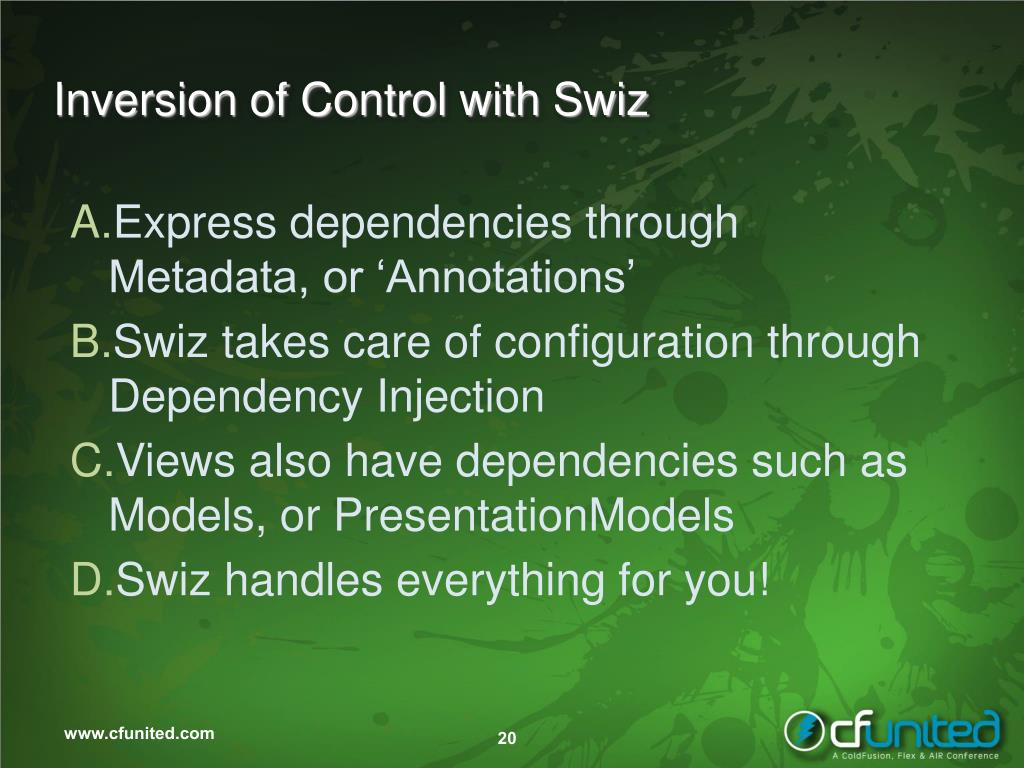 Inversion of Control with Swiz