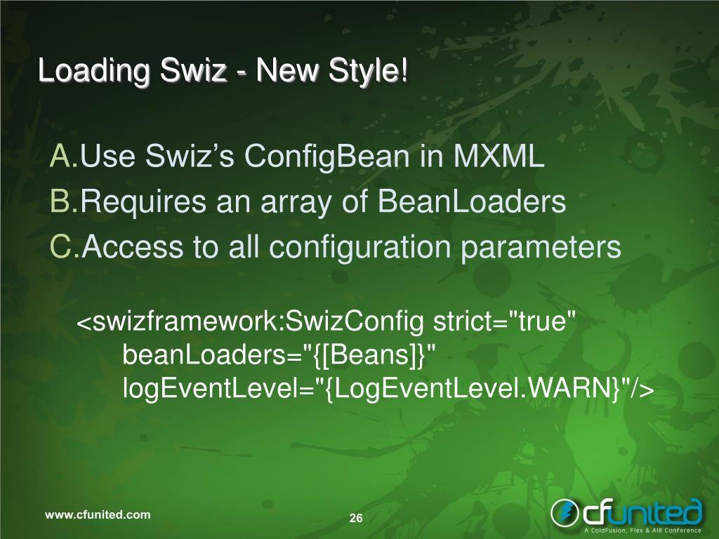 Loading Swiz - New Style!