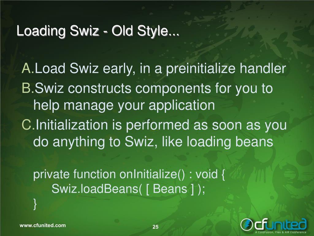 Loading Swiz - Old Style...