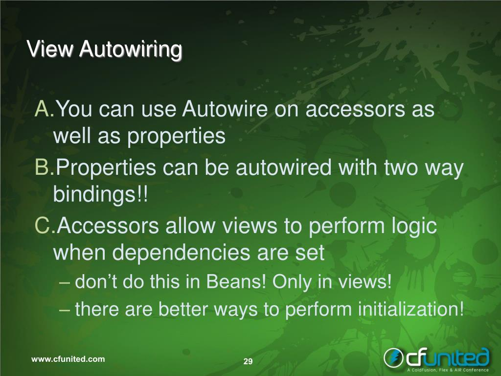 View Autowiring