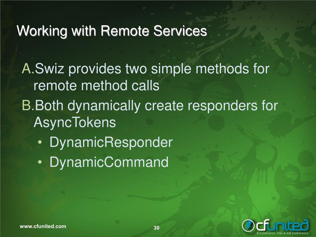 Working with Remote Services