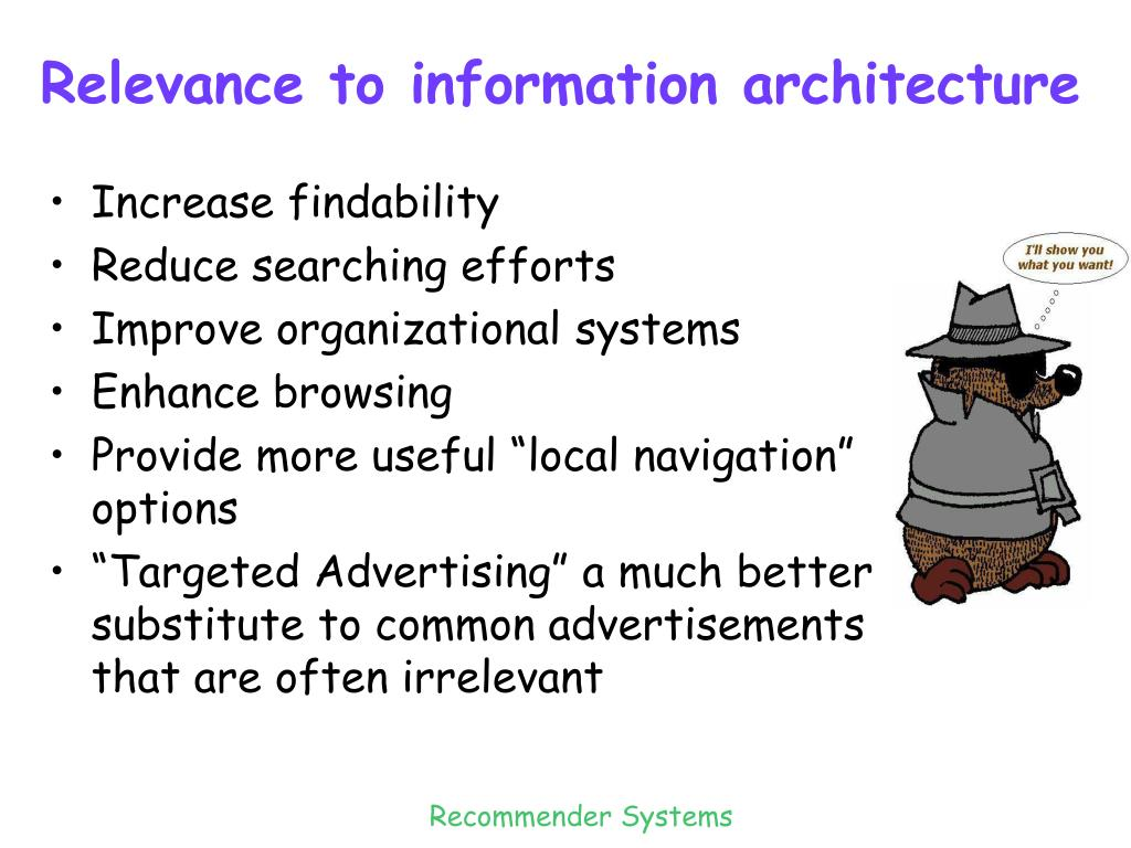 Relevance to information architecture