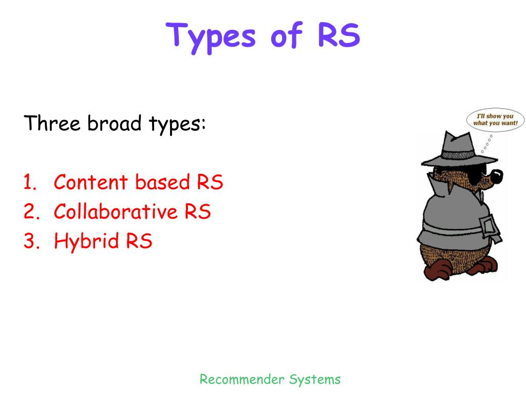Types of RS