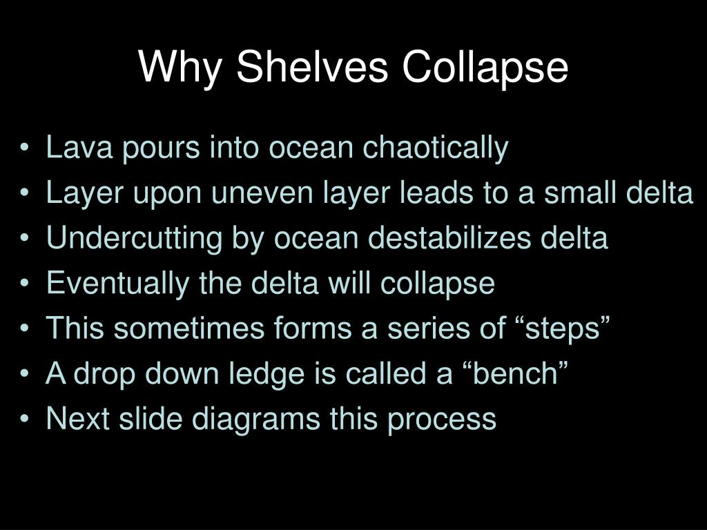 Why Shelves Collapse