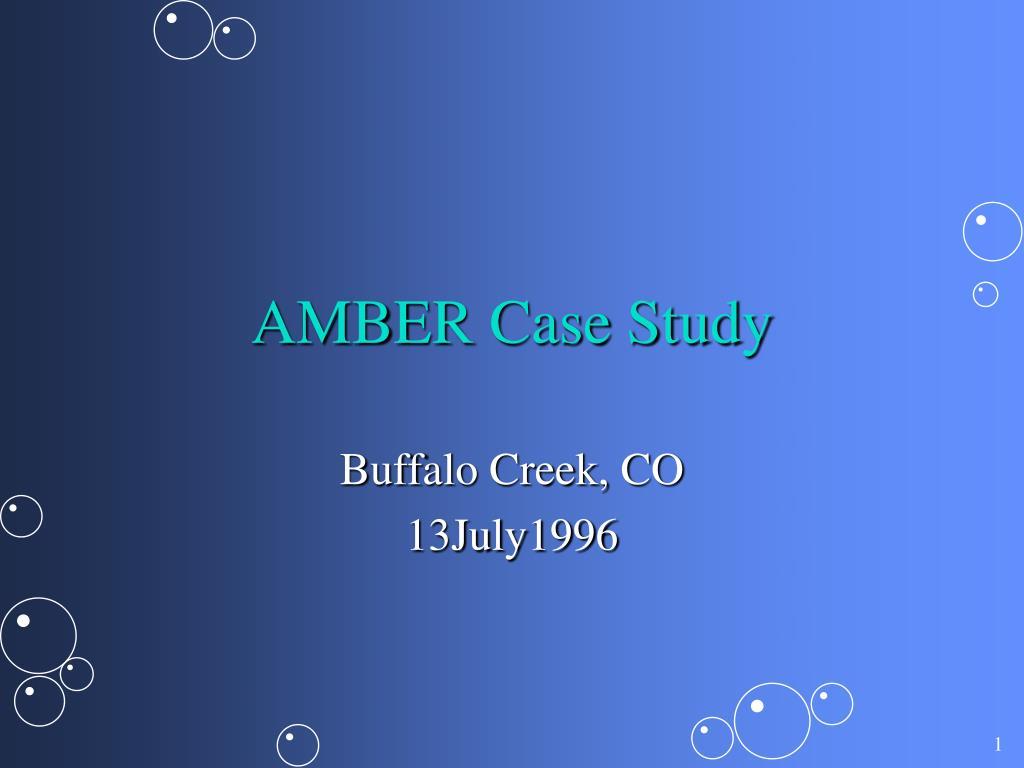amber case study l.