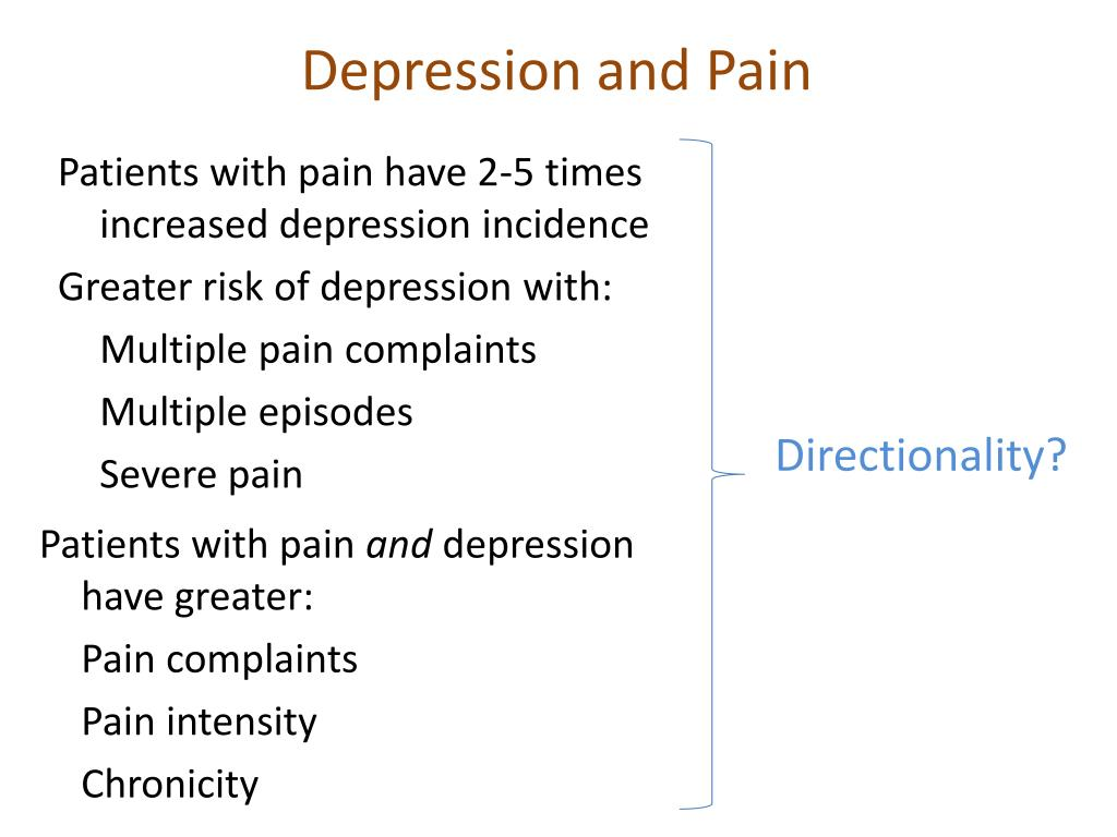 Depression and Pain