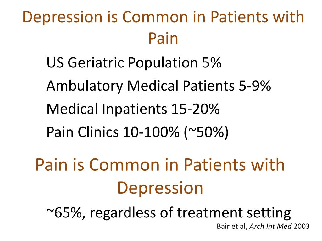 Depression is Common in Patients with Pain