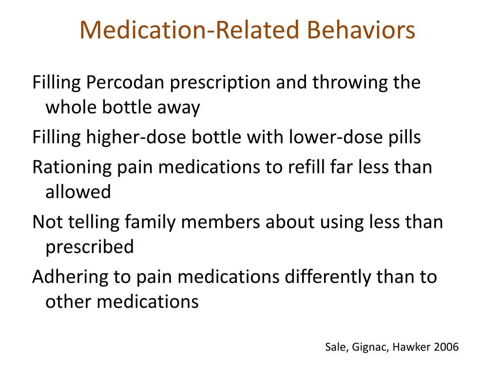 Medication-Related Behaviors