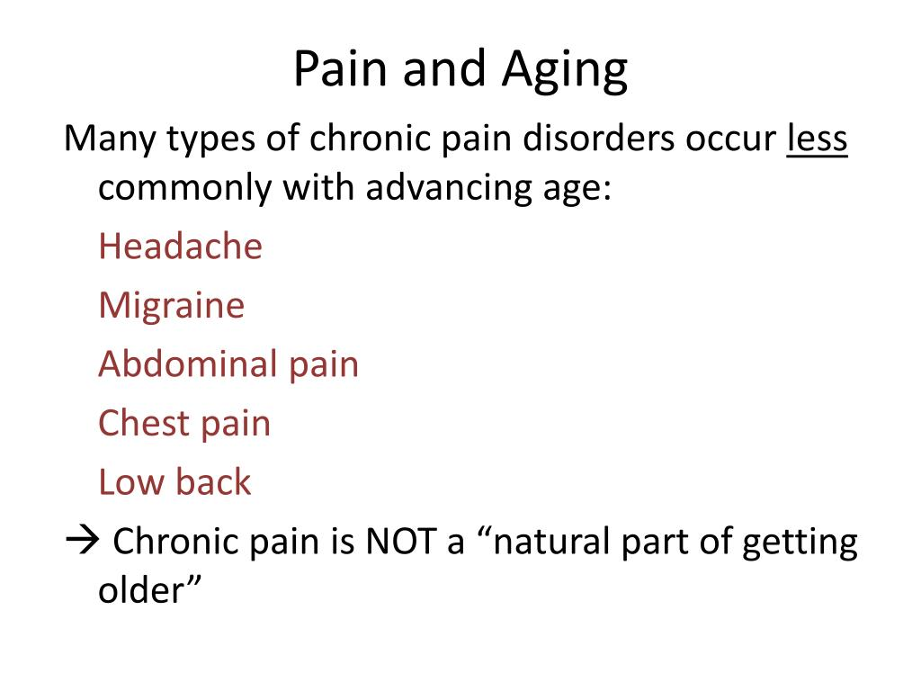 Pain and Aging
