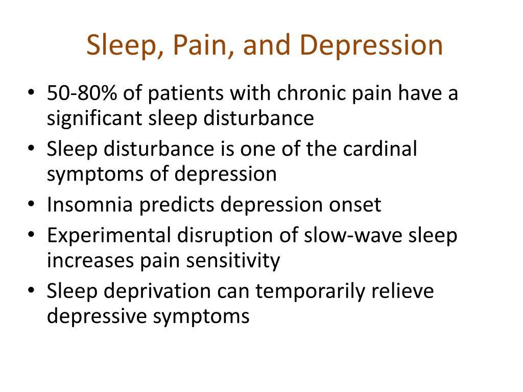 Sleep, Pain, and Depression