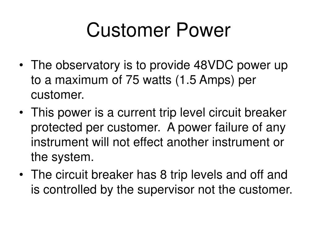 Customer Power