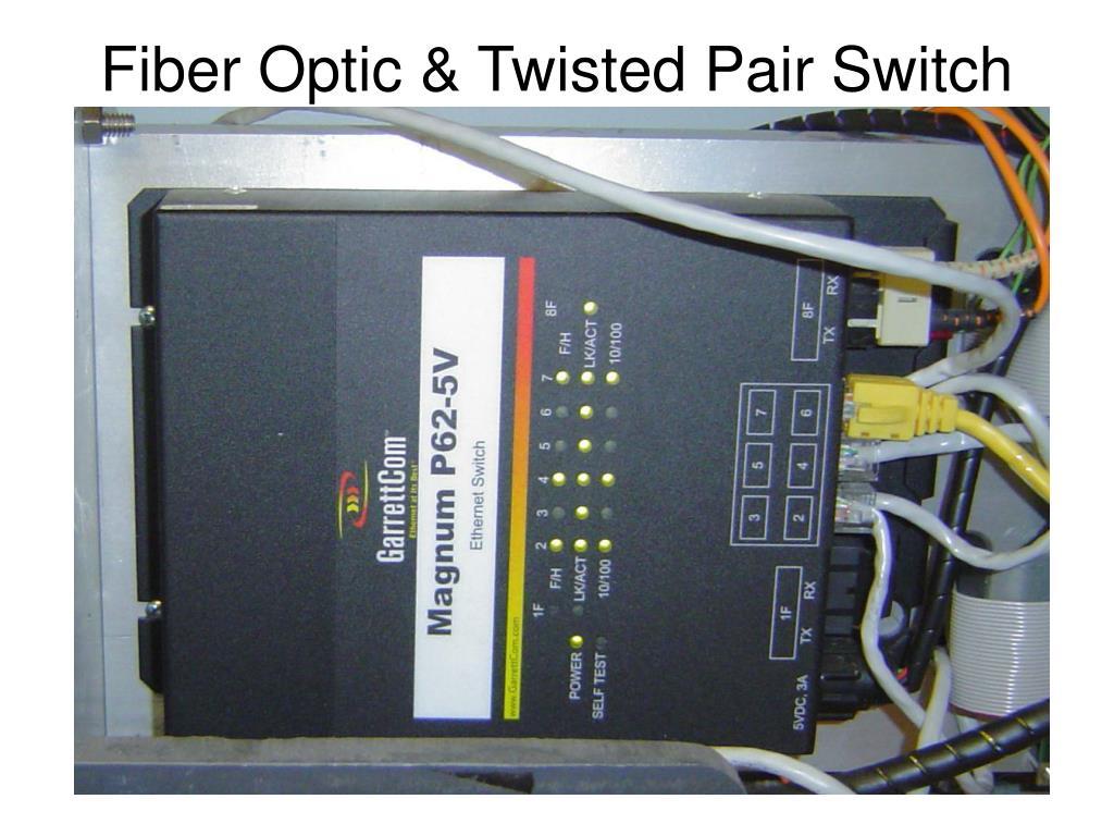 Fiber Optic & Twisted Pair Switch