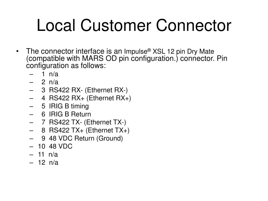 Local Customer Connector