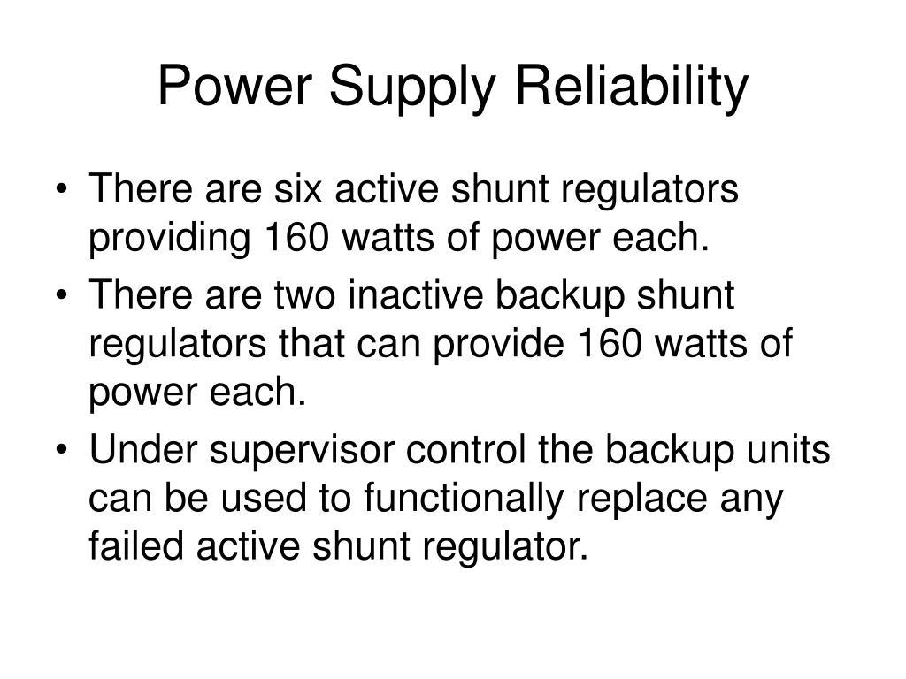 Power Supply Reliability