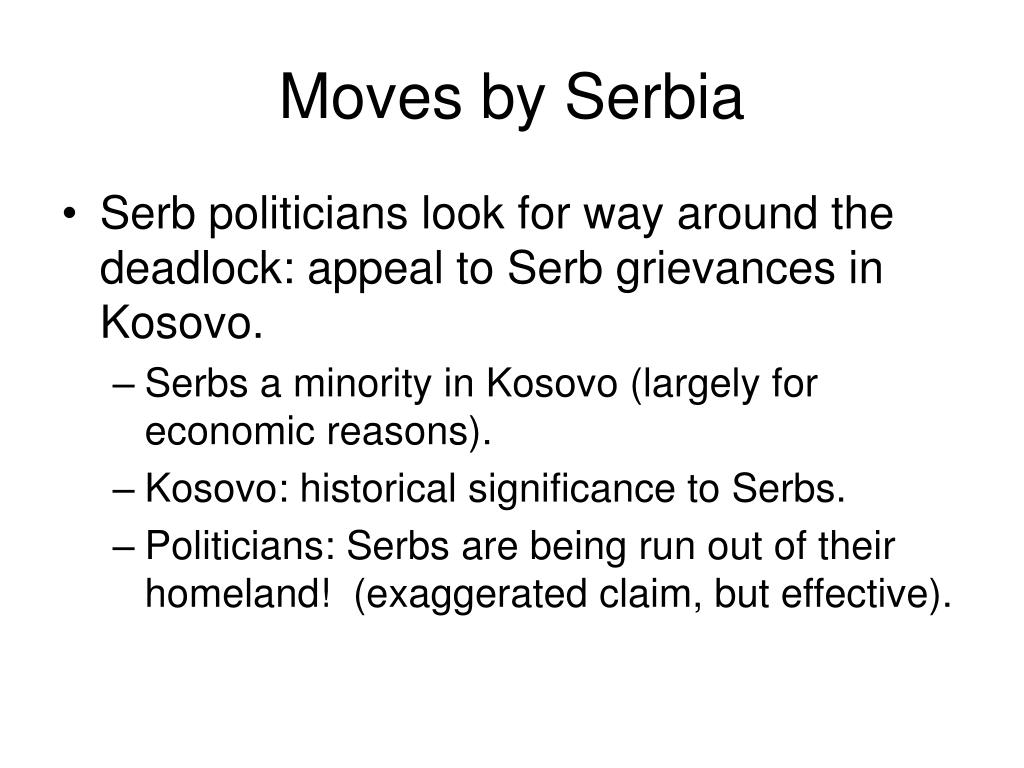 Moves by Serbia
