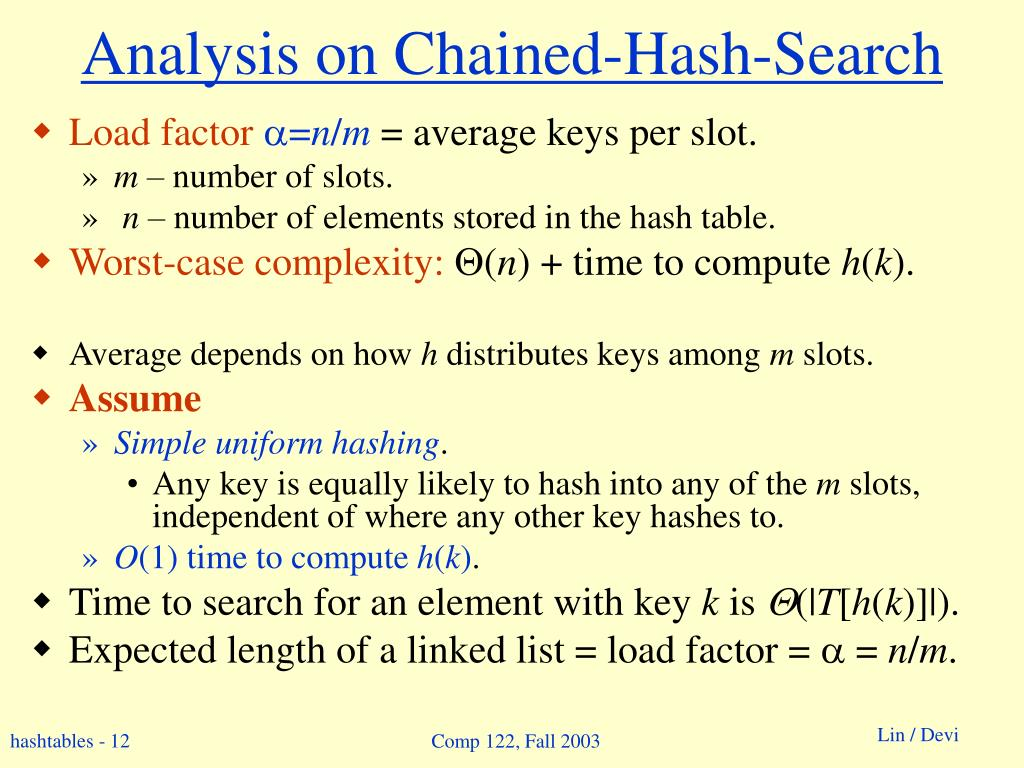 Analysis on Chained-Hash-Search