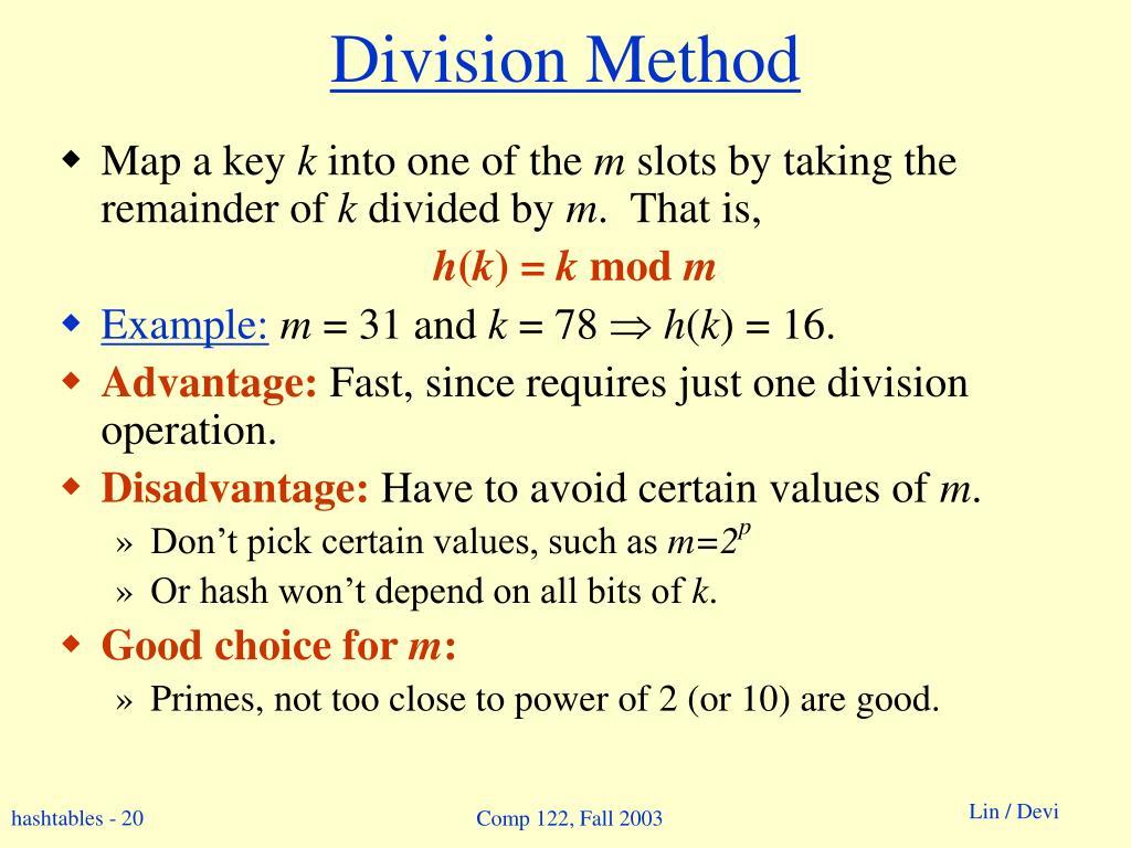 Division Method