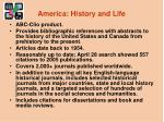 america history and life