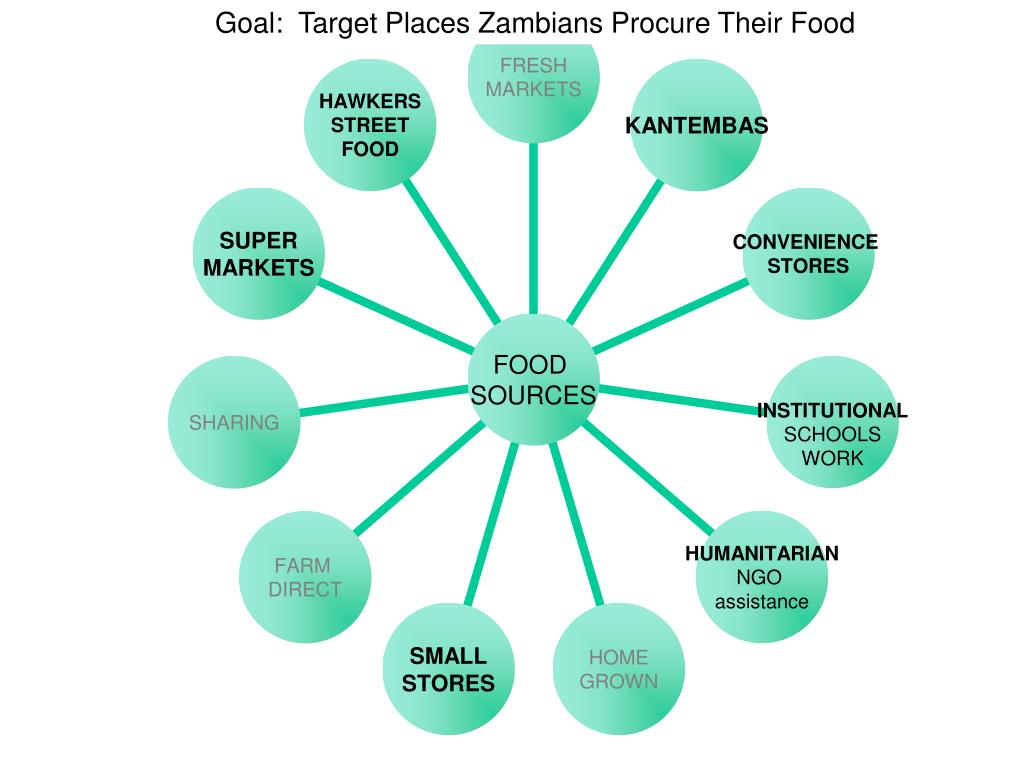 Goal:  Target Places Zambians Procure Their Food