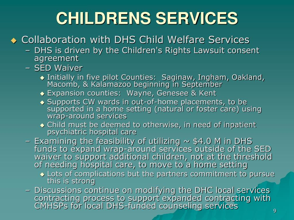 CHILDRENS SERVICES