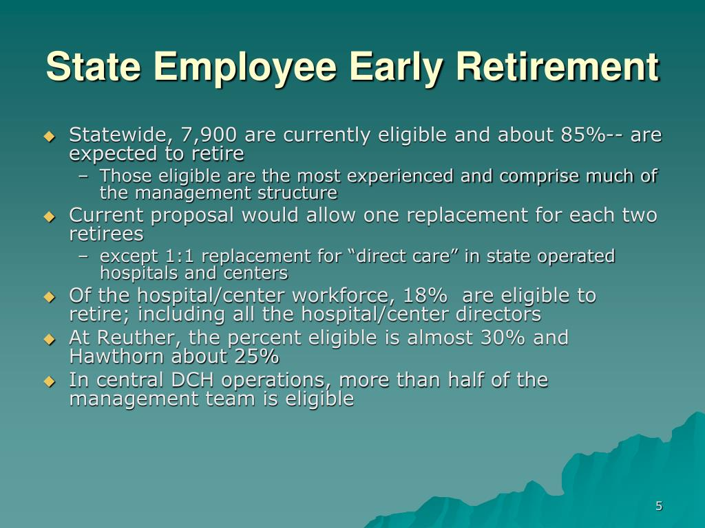 State Employee Early Retirement