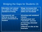 bridging the gaps for students 3