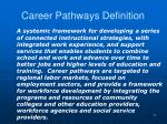 career pathways definition