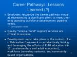 career pathways lessons learned 2