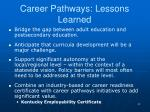 career pathways lessons learned