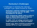 kentucky s challenges