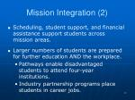 mission integration 2