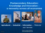 postsecondary education knowledge and innovation a necessity across all economies