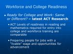 workforce and college readiness