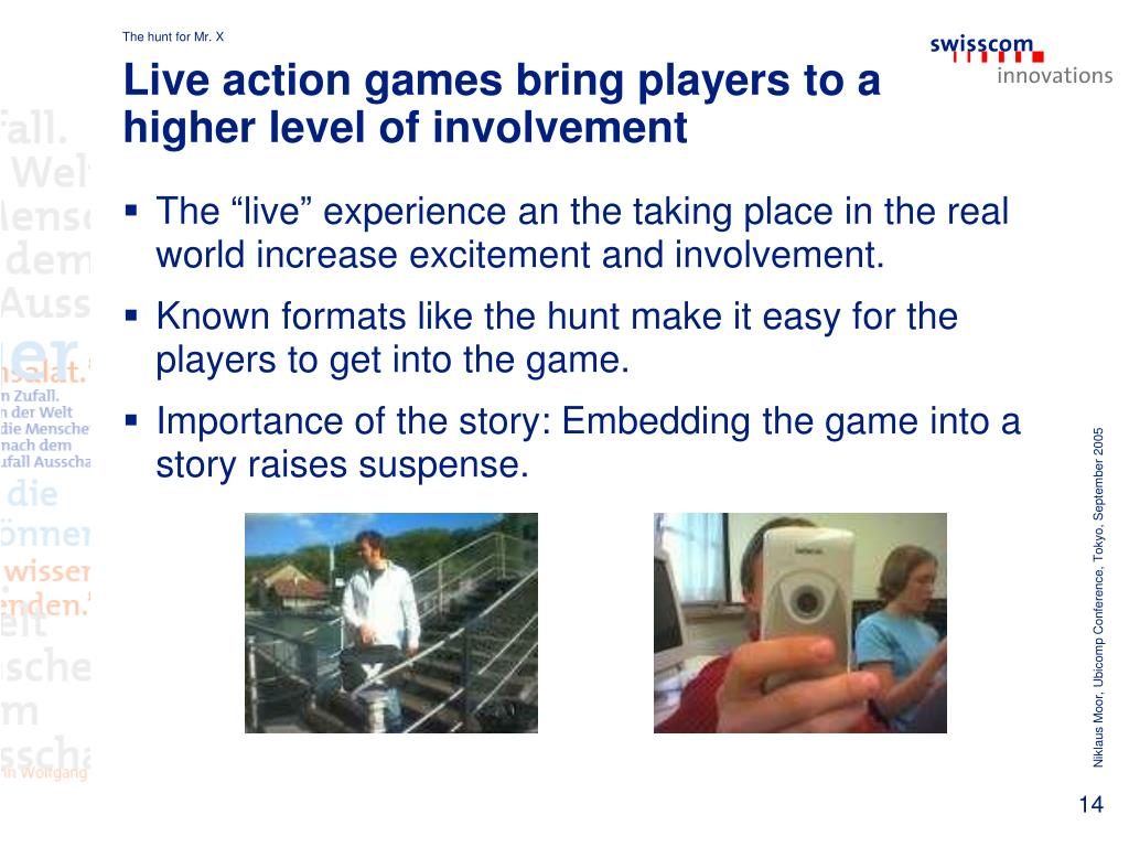 Live action games bring players to a higher level of involvement