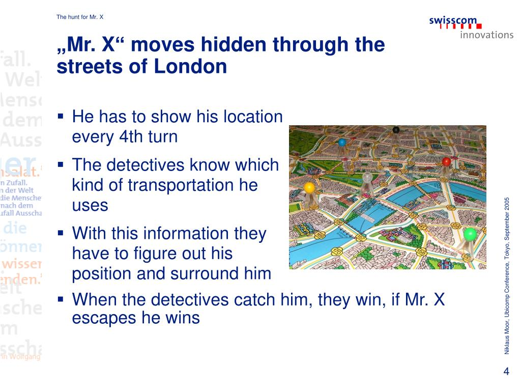 """""""Mr. X"""" moves hidden through the streets of London"""