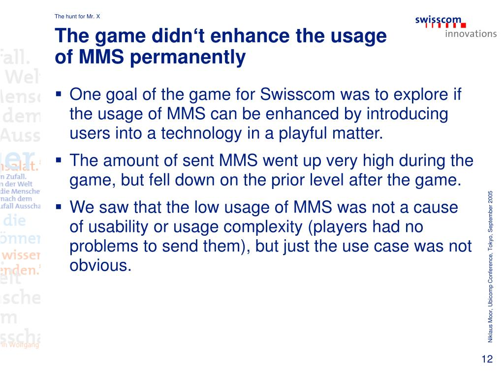 The game didn't enhance the usage of MMS permanently