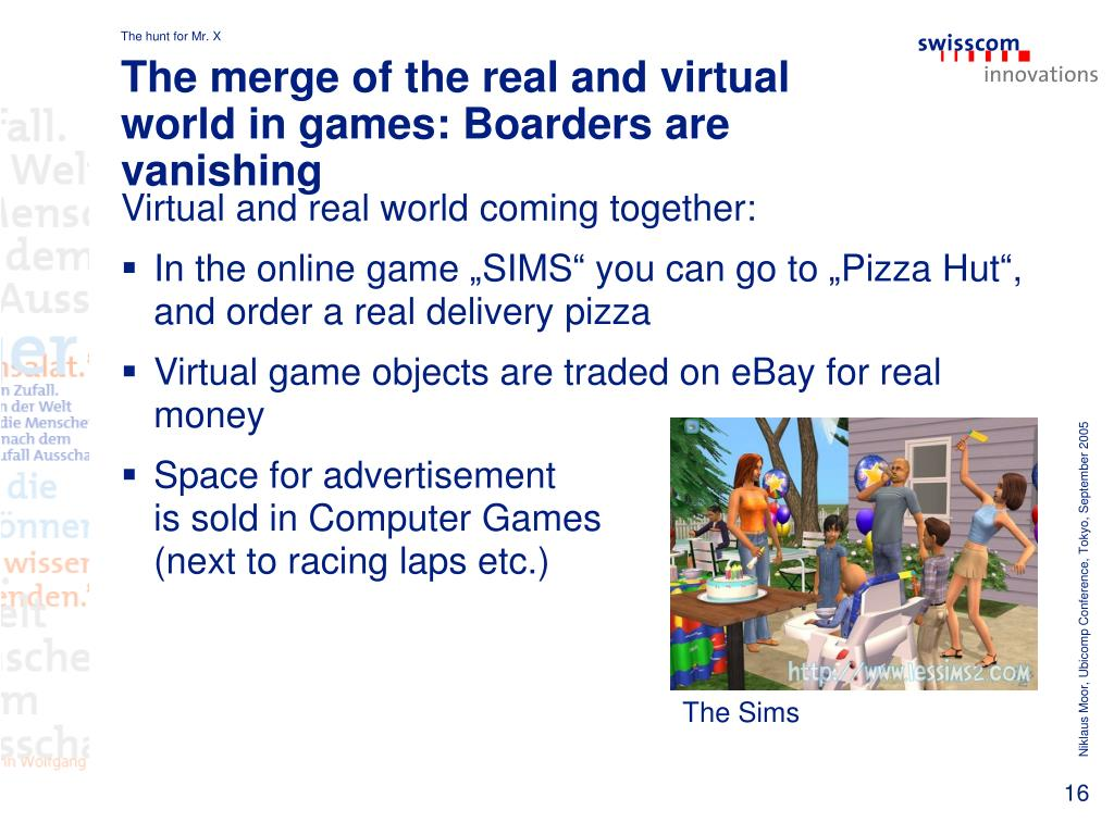 The merge of the real and virtual world in games: Boarders are vanishing