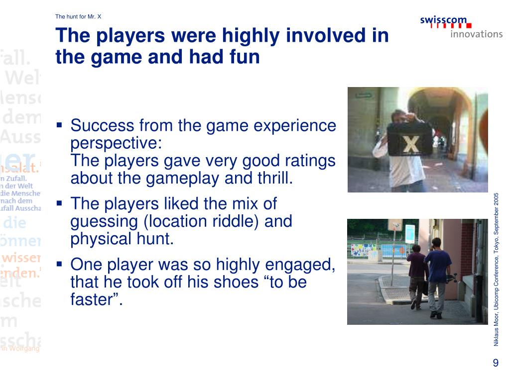The players were highly involved in the game and had fun