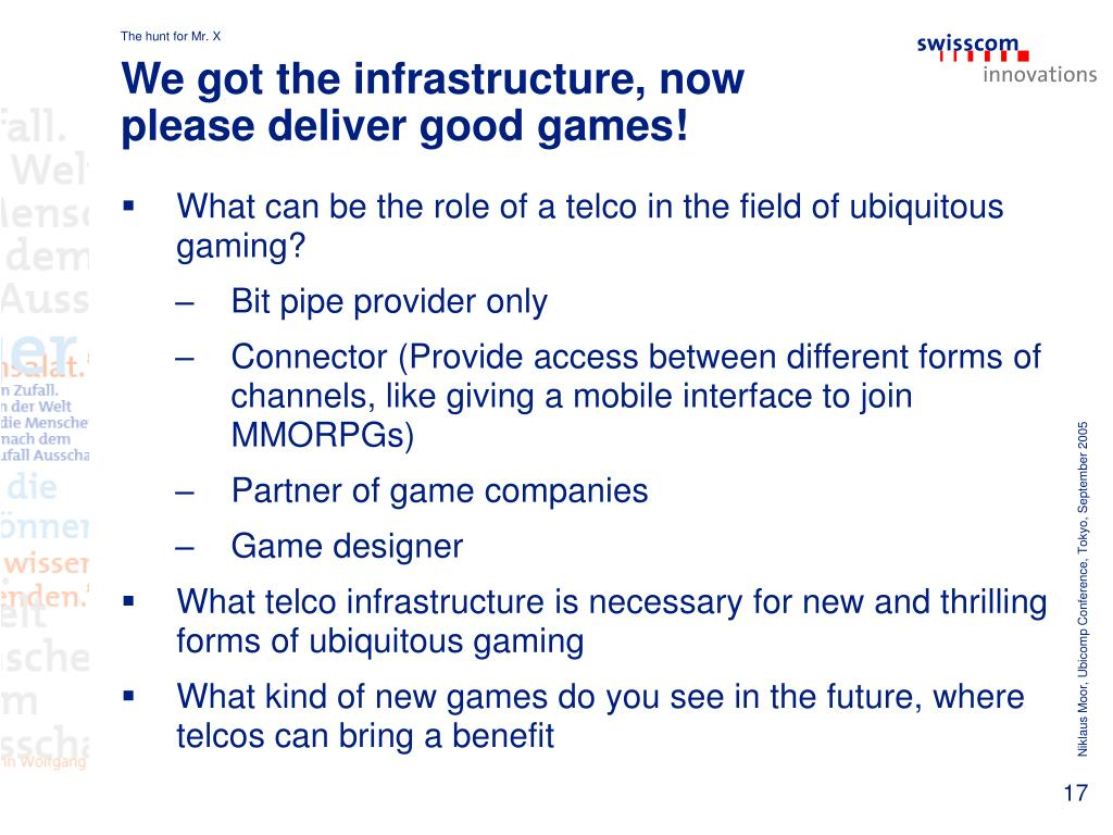 We got the infrastructure, now please deliver good games!