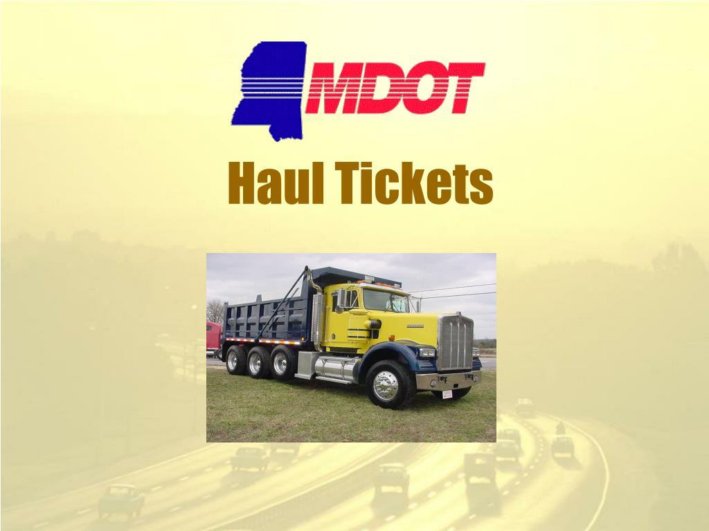 haul tickets l.