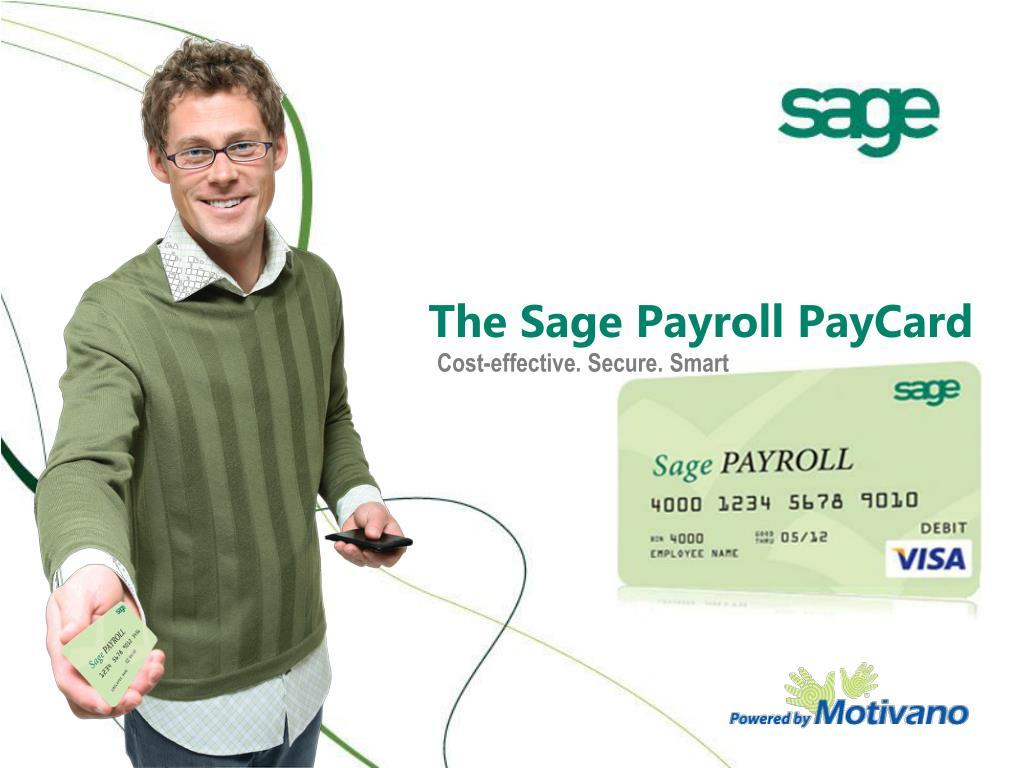 the sage payroll paycard l.