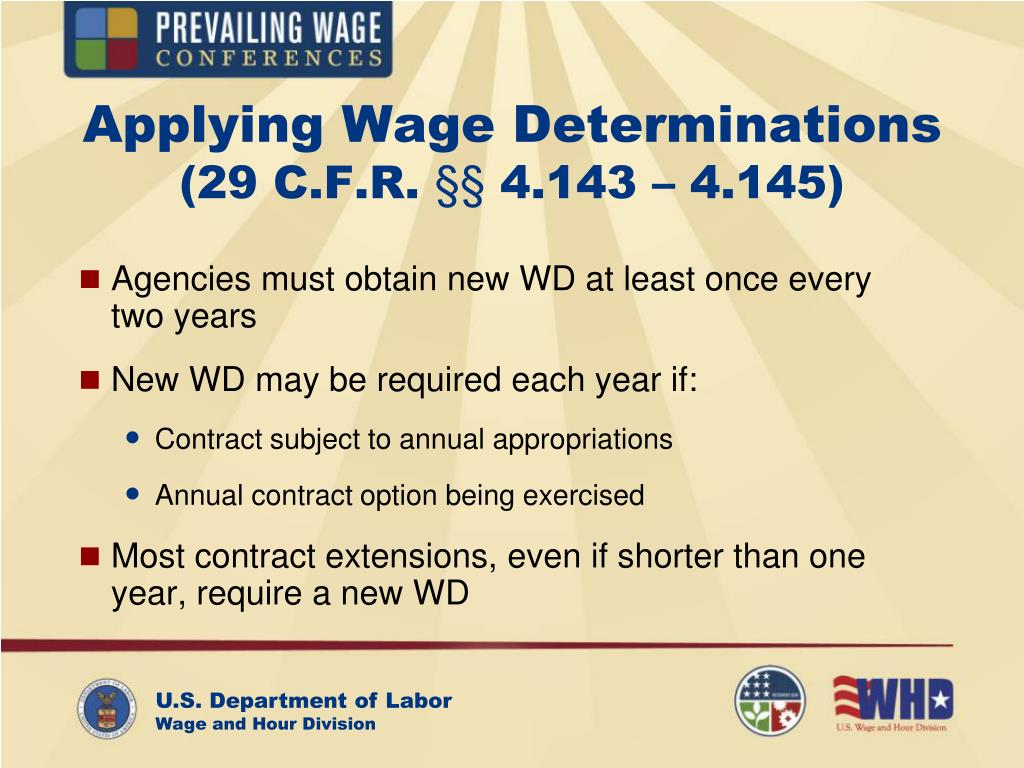 Applying Wage Determinations