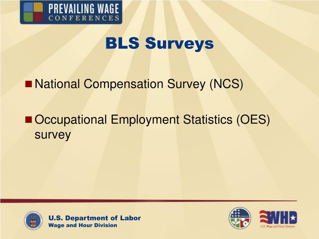 BLS Surveys