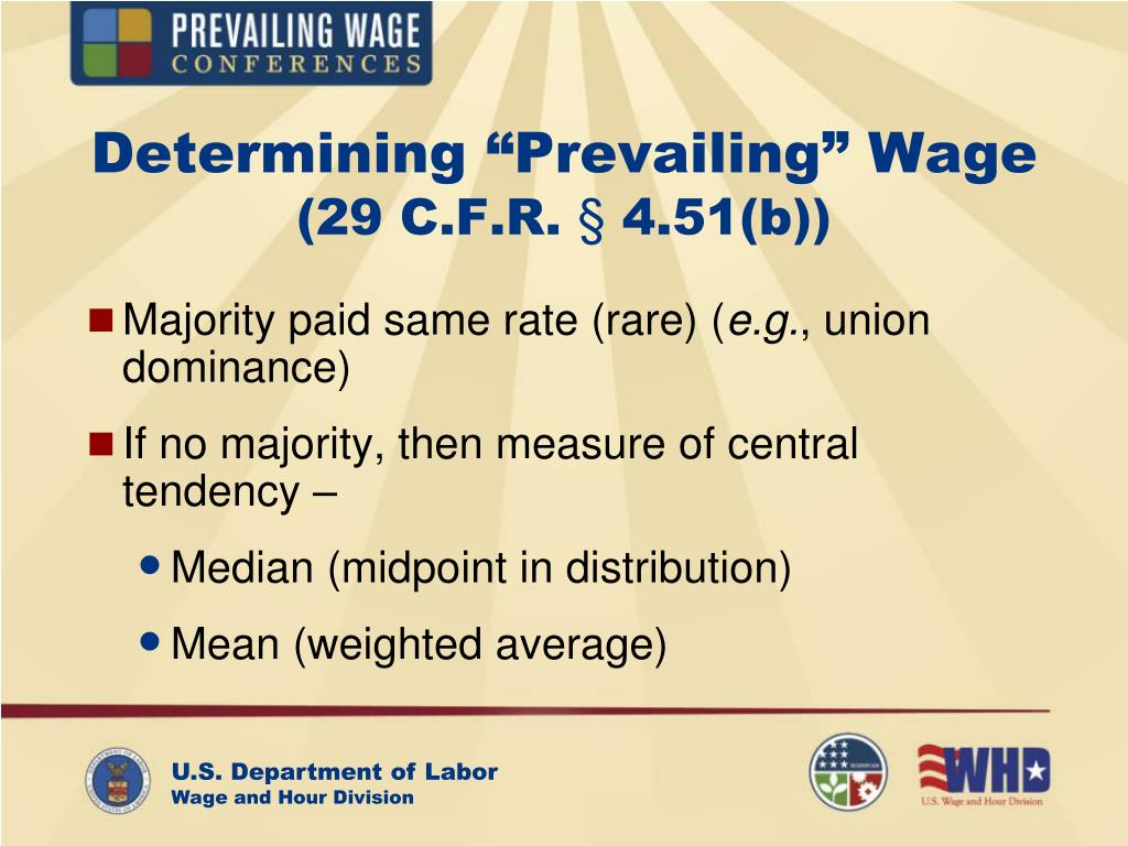 """Determining """"Prevailing"""" Wage"""
