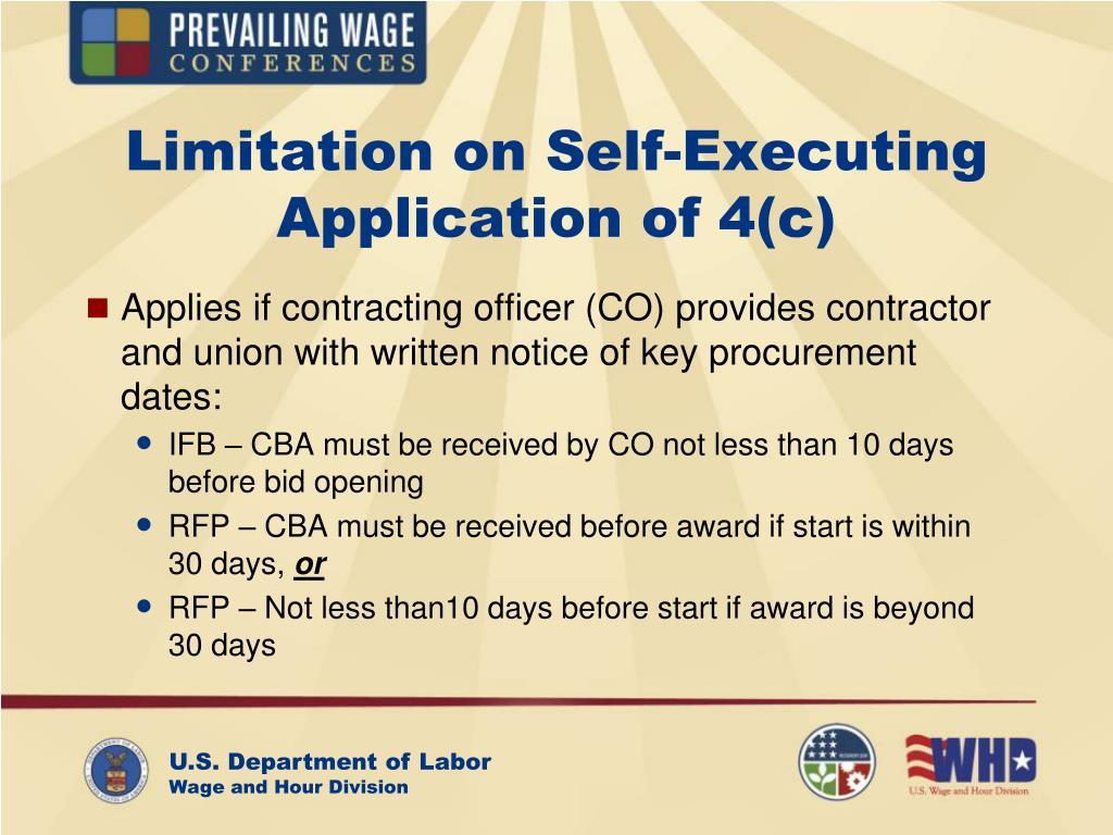 Limitation on Self-Executing Application of 4(c)