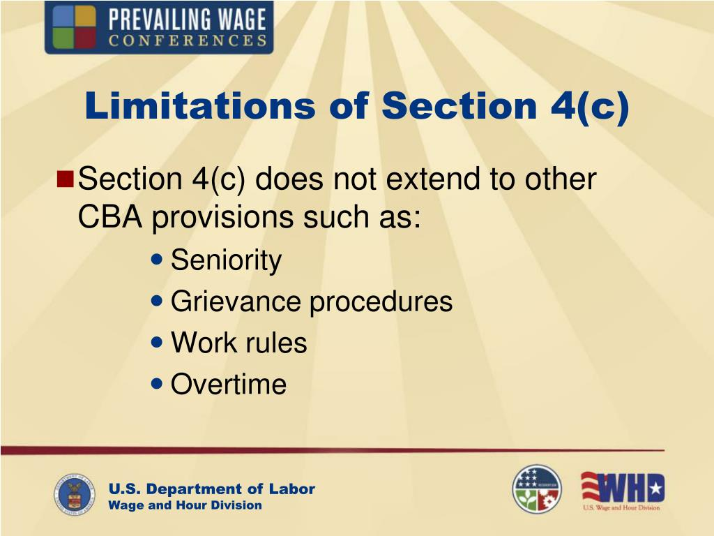 Limitations of Section 4(c)