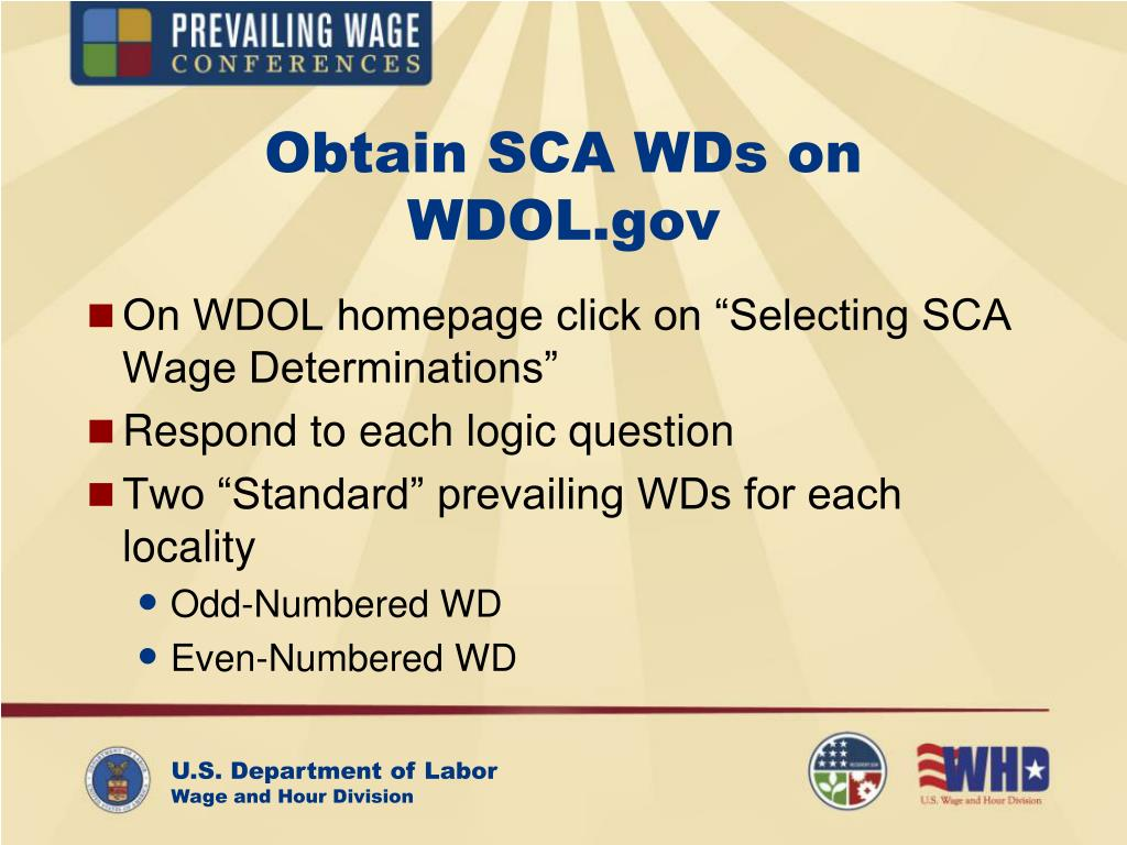 Obtain SCA WDs on
