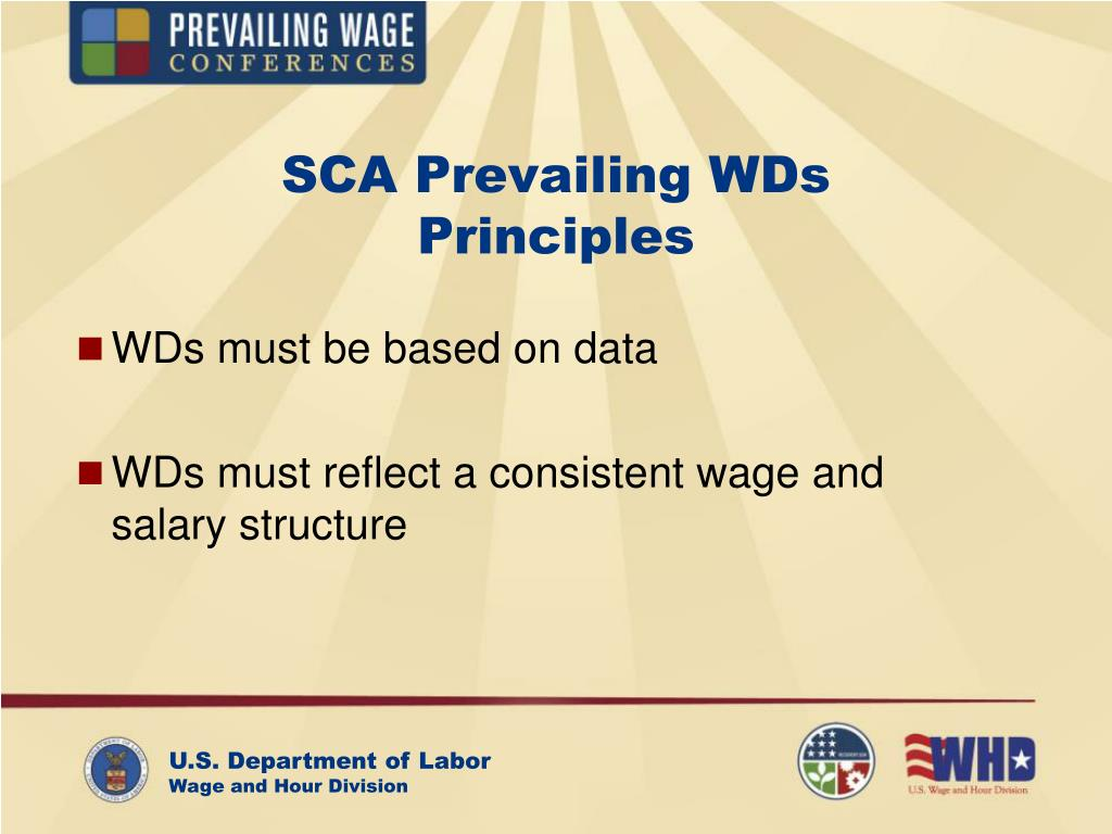 SCA Prevailing WDs