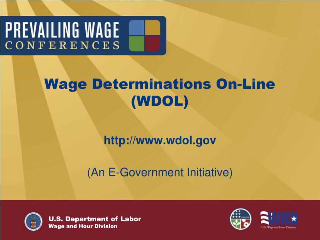 Wage Determinations On-Line (WDOL)