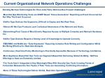 current organizational network operations challenges